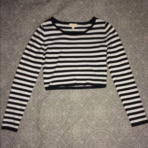 Sweaters - Striped fitted sweater